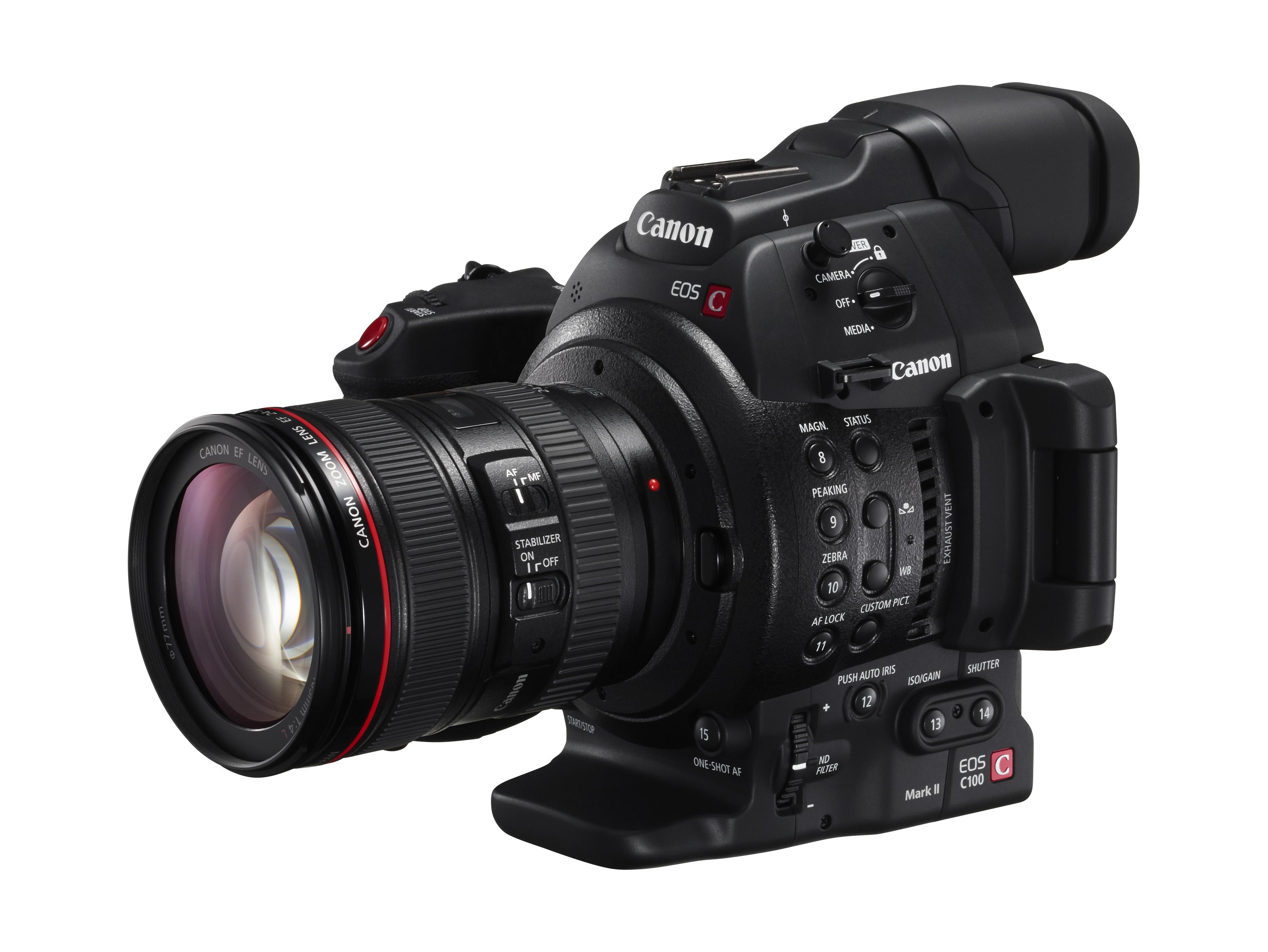 キヤノン デジタルシネマカメラ EOS C100 Mark IIファームウエアアップデートのお知らせ