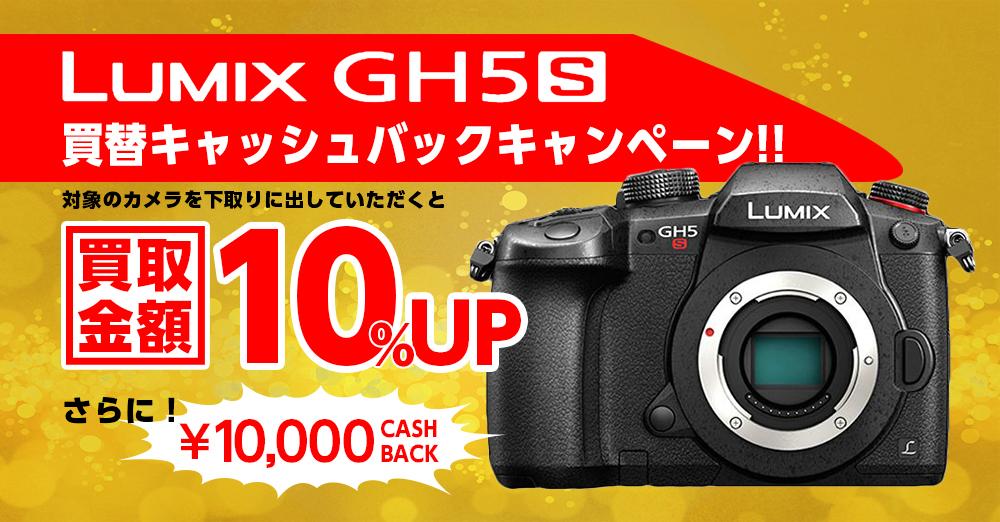 パナソニック ミラーレス一眼カメラ GH5S買替キャッシュバックキャンペーン!